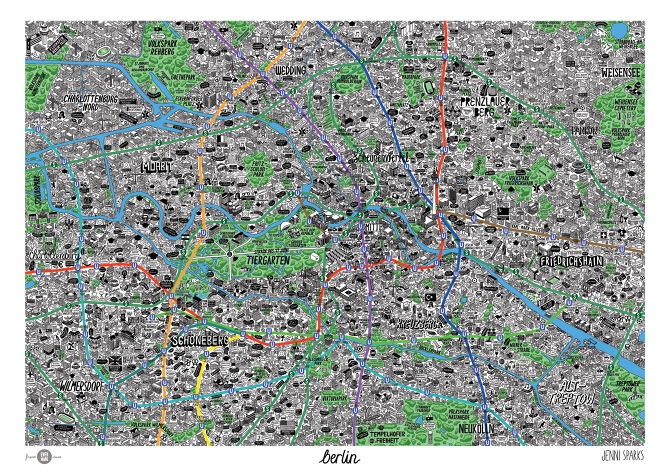 Design Len Berlin map of berlin sparks